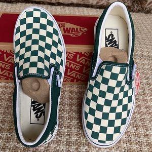 Vans Classic Slip On Checkerboard Bstrgr/Trwht Men